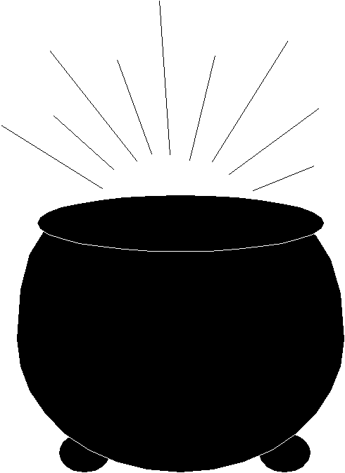 rainbow with pot of gold clipart black and white clipart