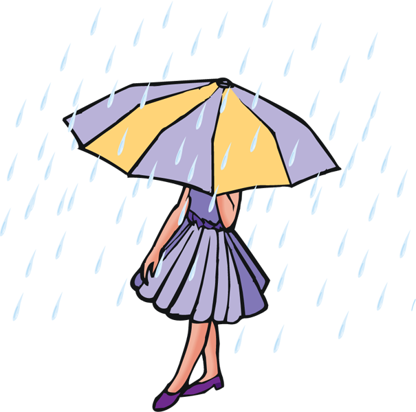 Rainy Weather Clipart on Windy Days Clipart