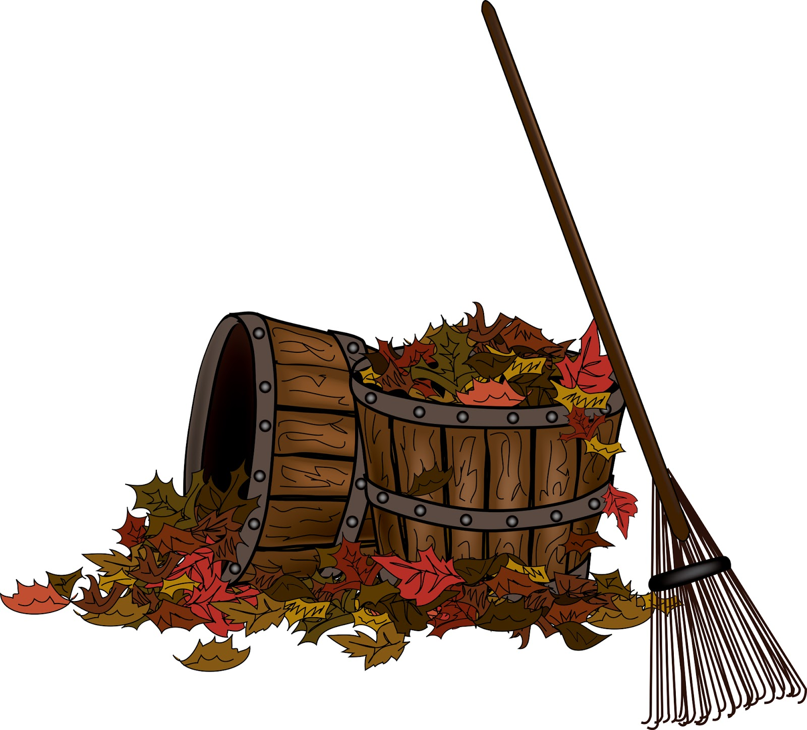 Rake And Leaves Clip Art | Clipart Panda - Free Clipart Images