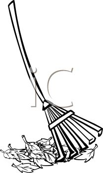 Raking Leaves Clipart Black And White | Clipart Panda - Free Clipart ...