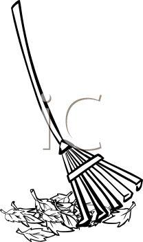 raking%20leaves%20clipart%20black%20and%20white