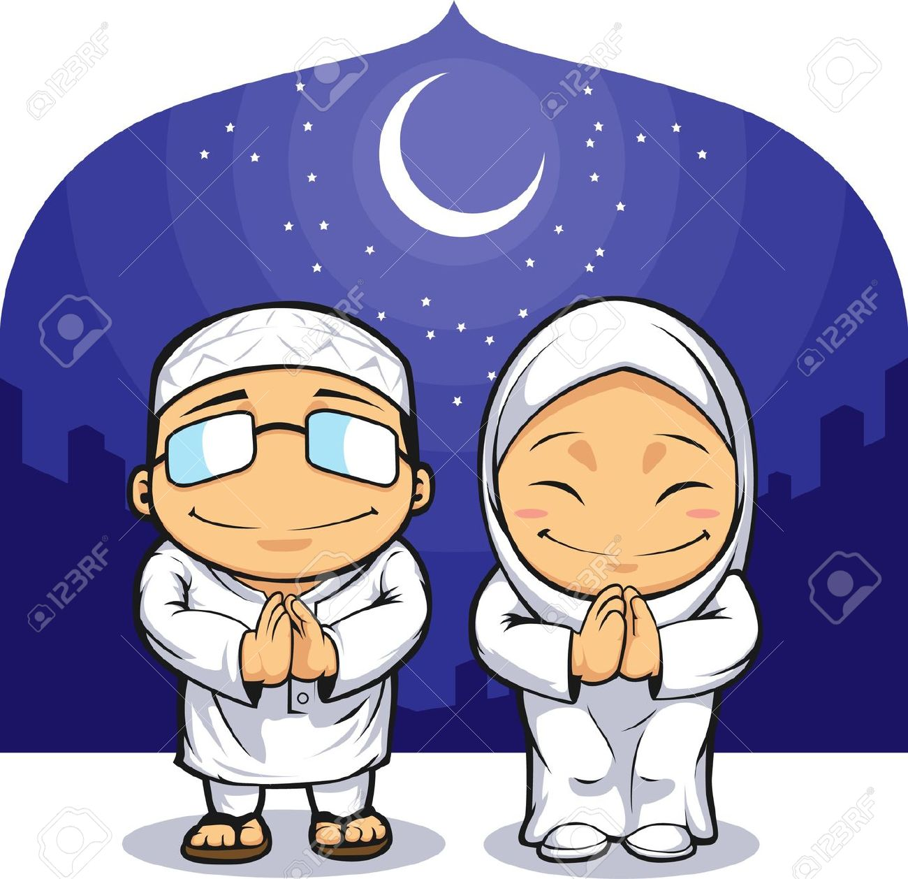 Ramadan Cartoon Of Muslim Man Clipart Panda Free