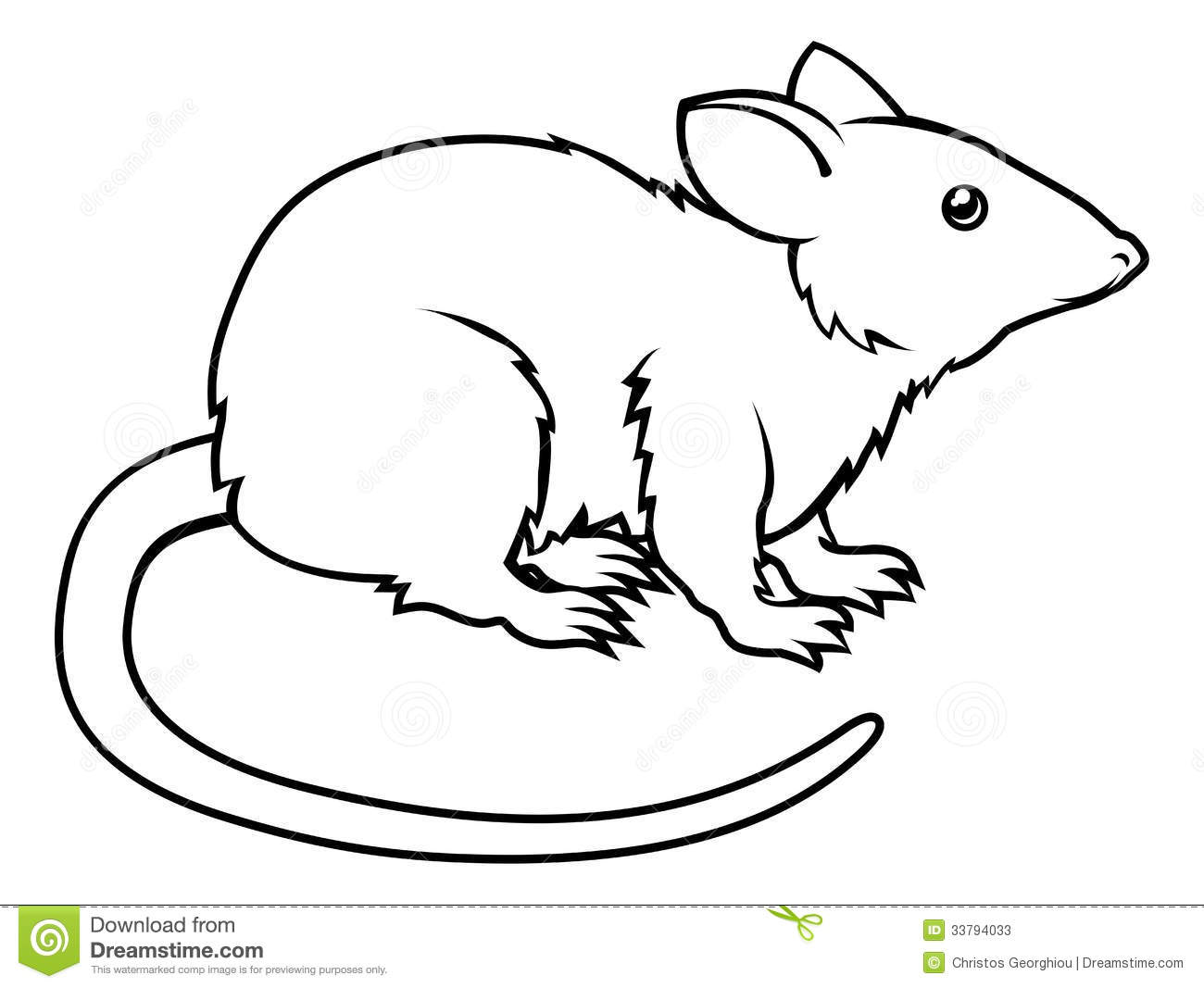 Line Drawing Rat : Rat clip art free clipart panda images