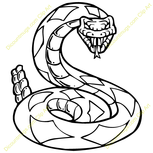 Diamondback rattlesnake clipart clipart panda free for Western diamondback rattlesnake coloring pages