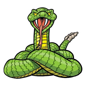 Cartoon Rattlesnake - ClipArt