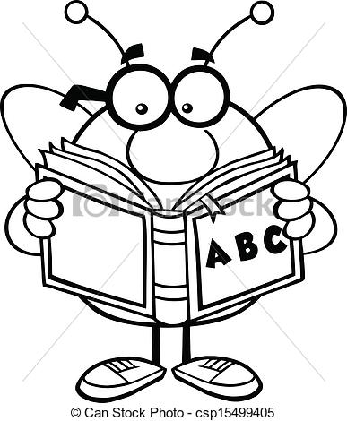 reading%20clipart%20black%20and%20white
