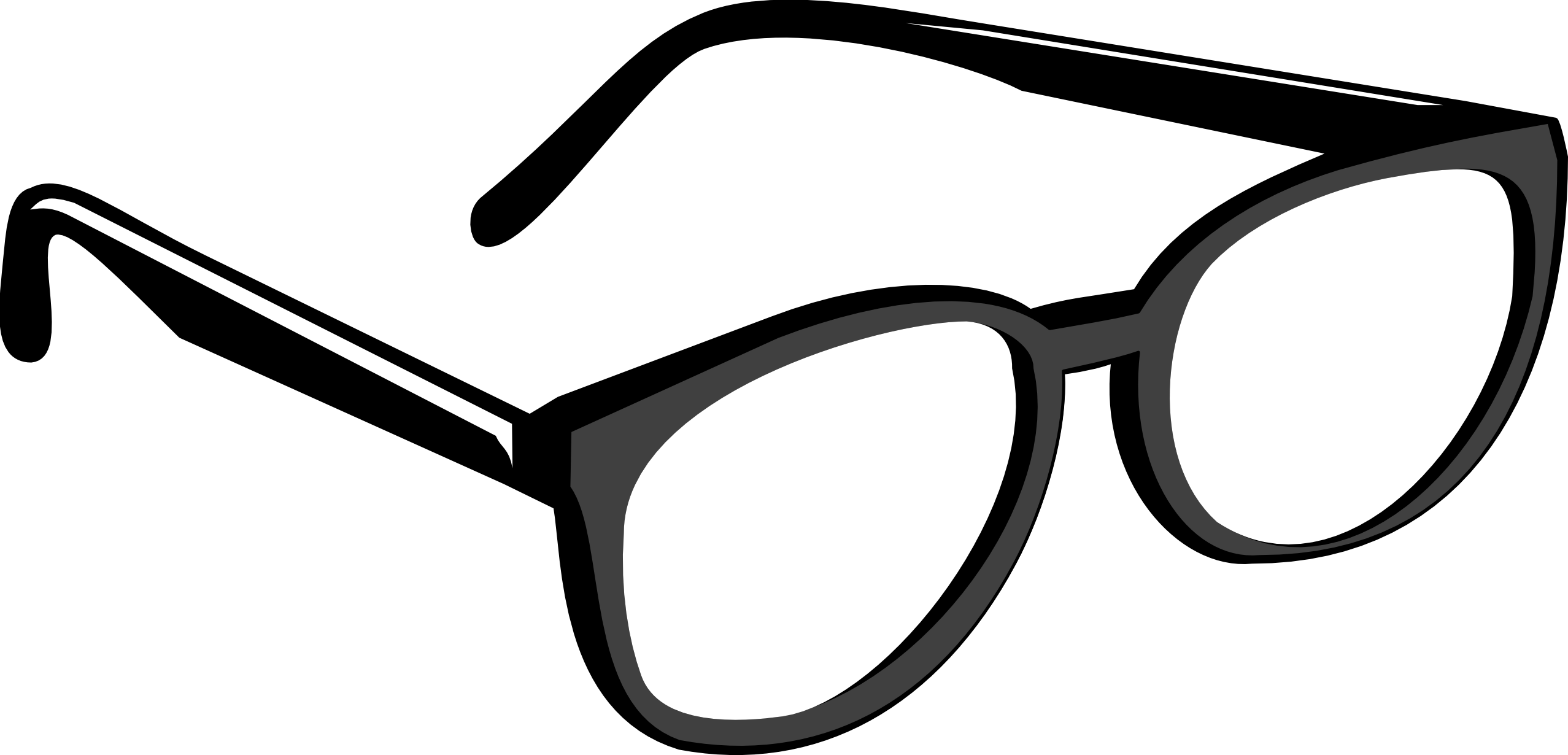 Line Art Eyewear : Reading glasses clipart panda free images