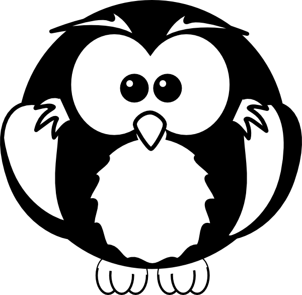 reading-owl-clipart-black-and-white-black-and-white-owl-hi pngBaby Owl Clipart Black And White