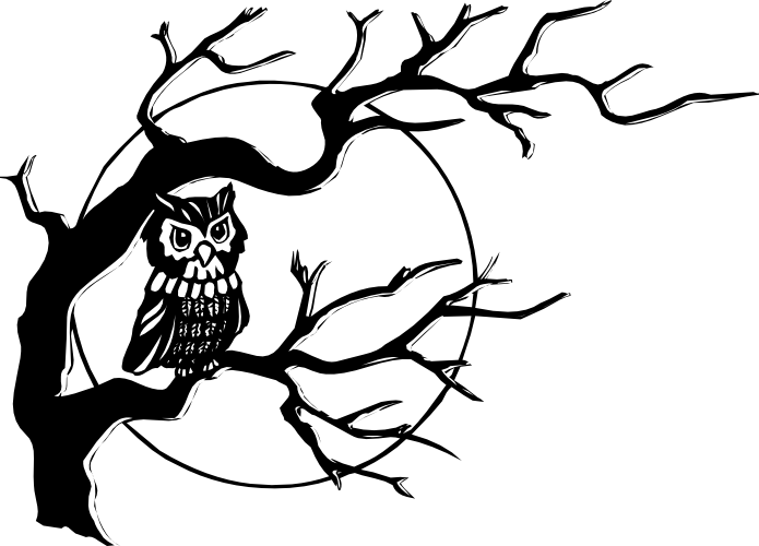 reading%20owl%20clipart%20black%20and%20white