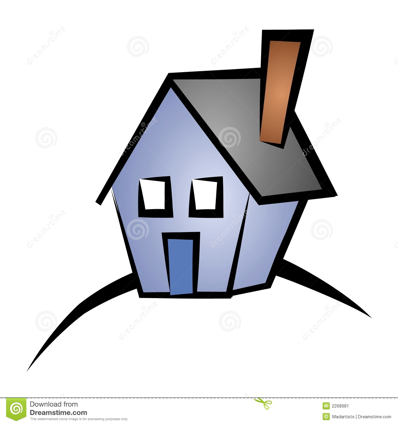 house on hill clipart - photo #12