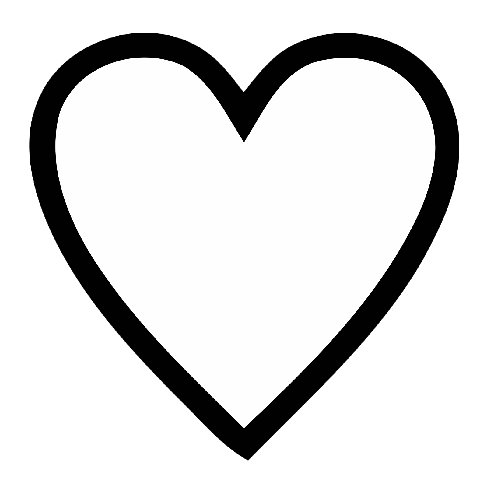 Line Art Heart Outline : Real heart drawing clipart panda free images