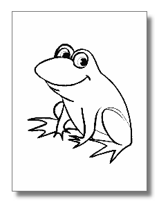 Realistic Frog Coloring Pages | Clipart Panda - Free ...