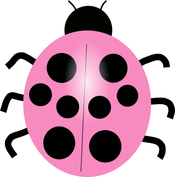 Pink Ladybug clip art - vector