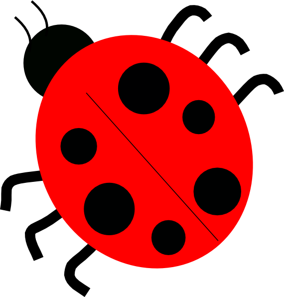Red Ladybugs clip art - vector