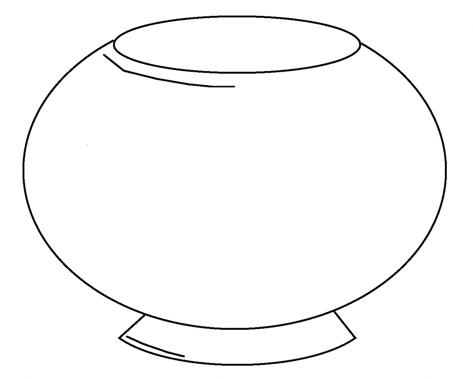 Free Coloring Pages Of Fishbowl
