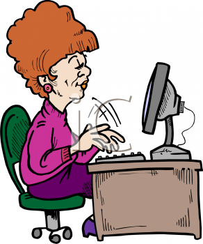 Typing Clip Art Cartoo...