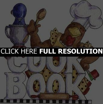 Recipe Book Cover Clipart Is