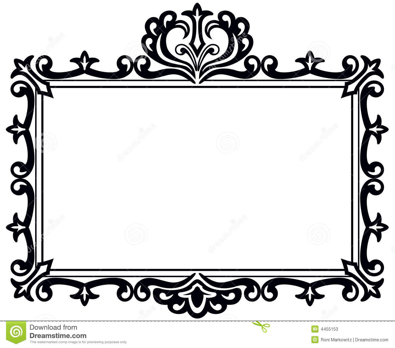 Fancy Frame Clip Art Black And White | Clipart Panda - Free Clipart ...
