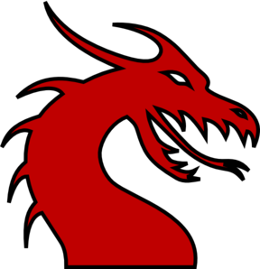 Red Face Paint Dragon