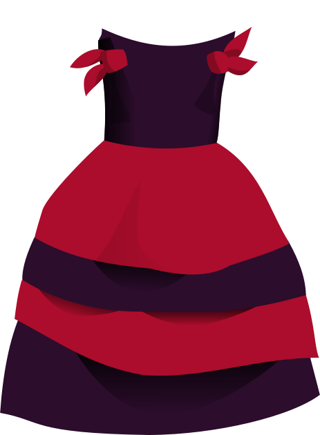 Red dress x clipart