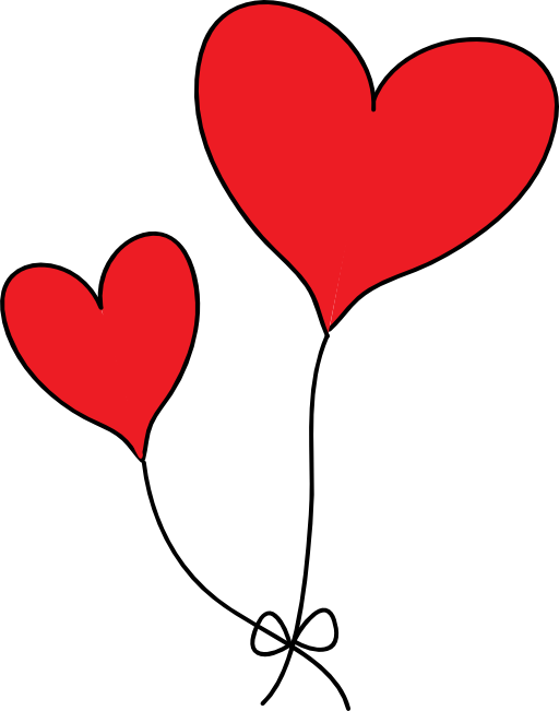 Love Balloon With cartoon Wallpaper : clip Art Two Hearts clipart Panda - Free clipart Images