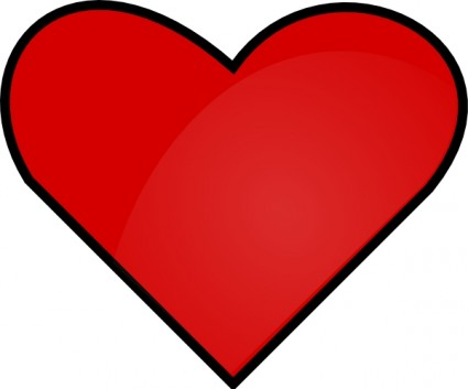 Red Heart Outline Clipart | Clipart Panda - Free Clipart ...