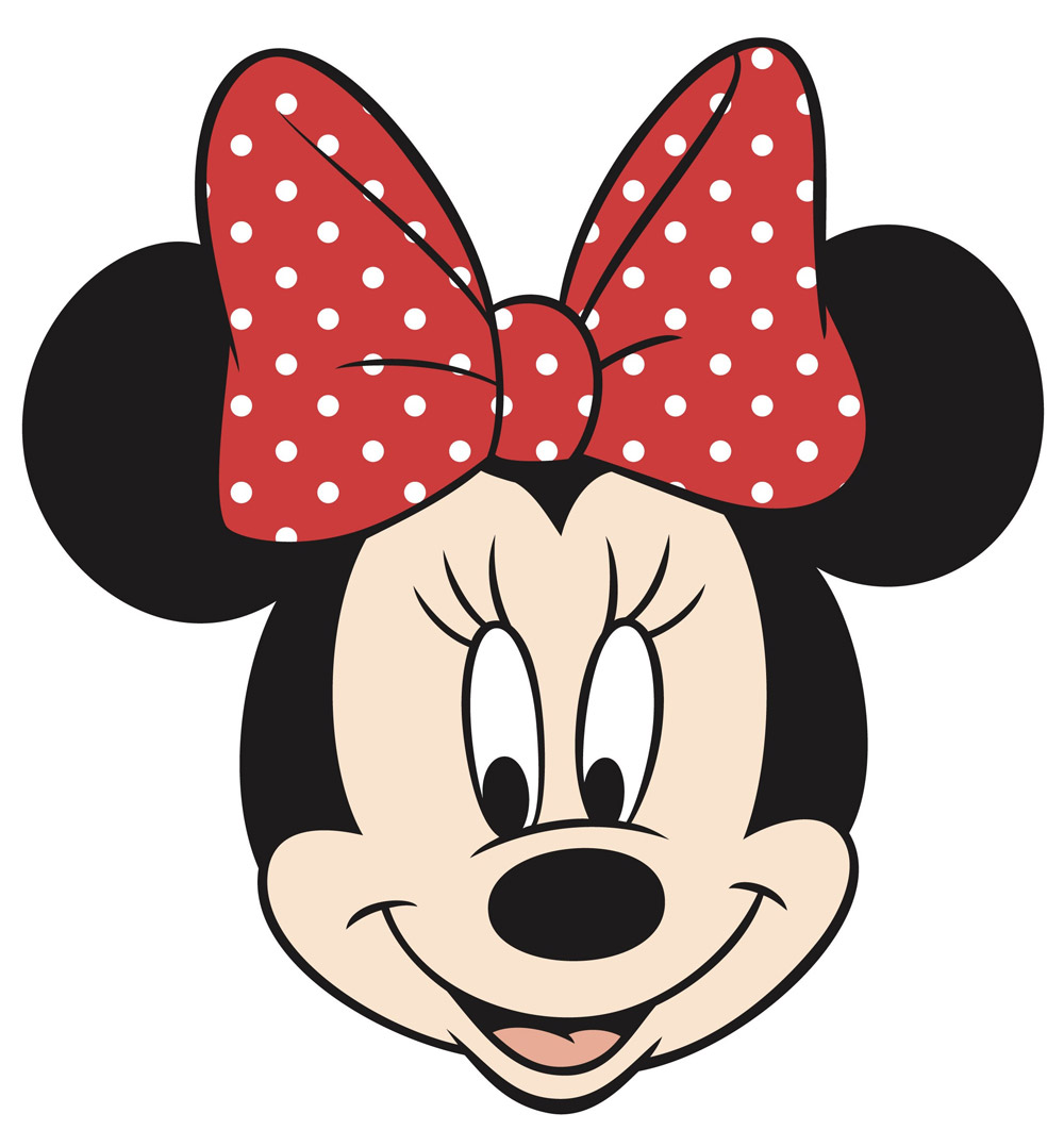 Red Minnie Mouse Face | Clipart Panda - Free Clipart Images