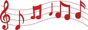 Red Music Notes Clipart