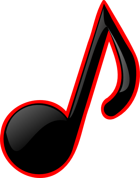 Single Line Symbol Art : Single music notes symbols clipart panda free