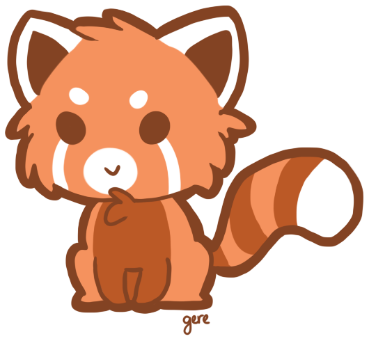 Chibi red panda - photo#2