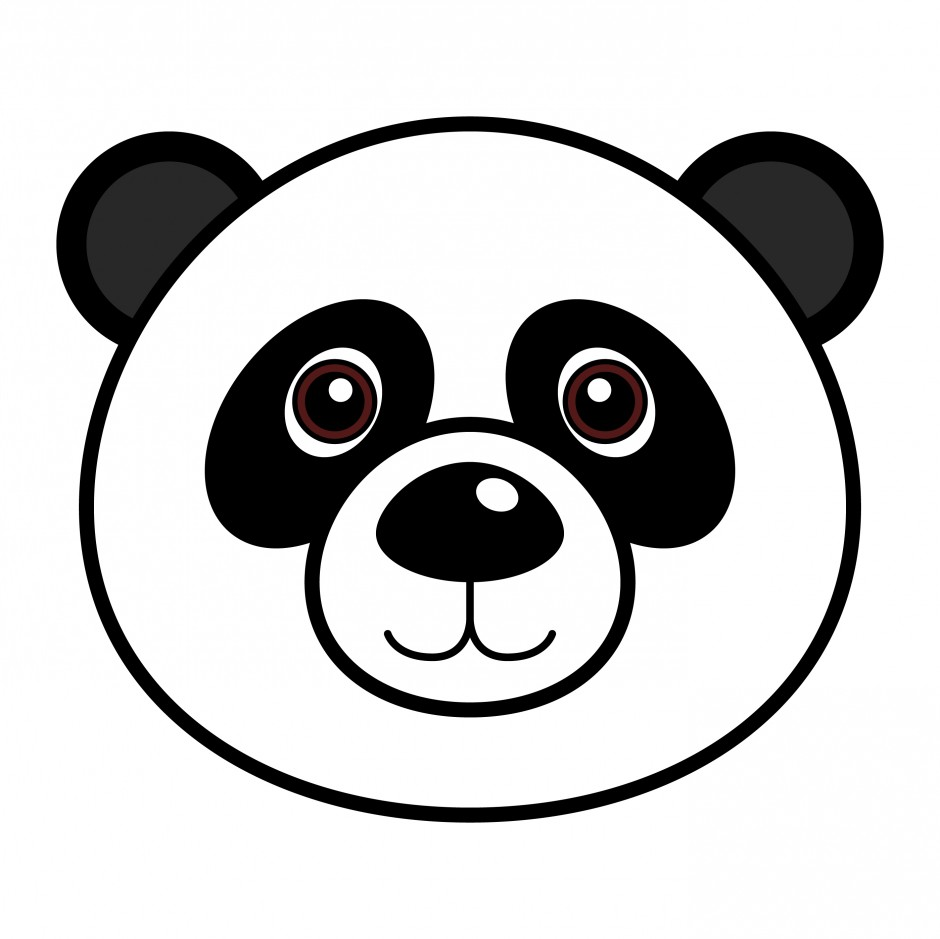panda bear drawings for kids