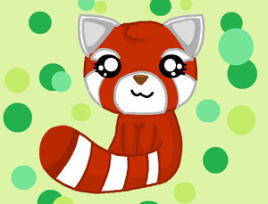 how to draw a cute red panda