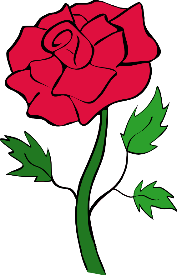 Clip Art Red Rose Clip Art red rose outline clipart panda free images