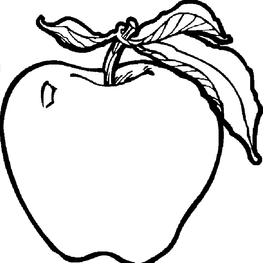 Free Red Apple Coloring Pages