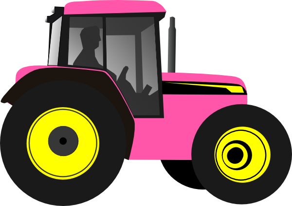 Drawing Man On Tractor : Red tractor clipart panda free images