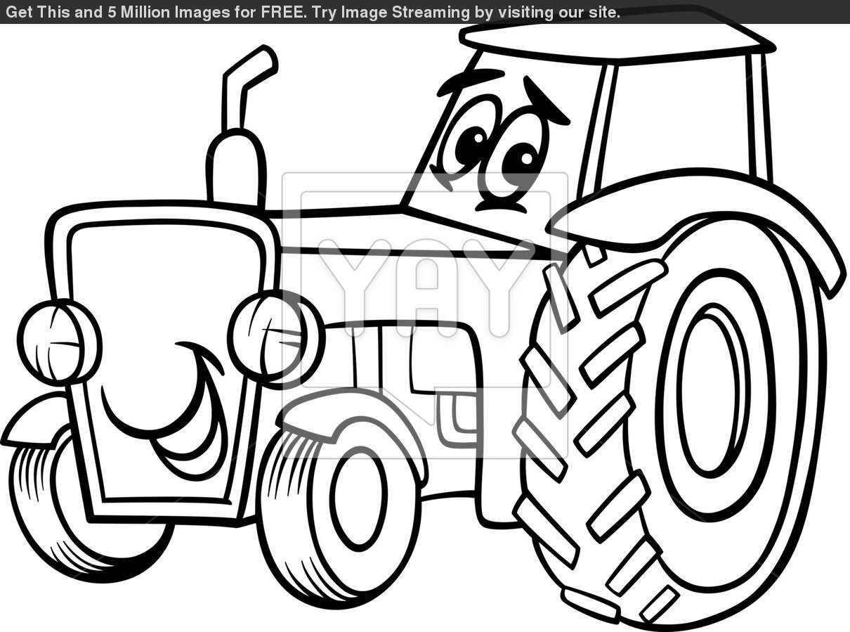 Coloring Pages Of Tractors Tractor