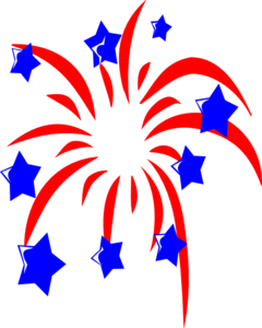 Red White And B... Fireworks Clip Art