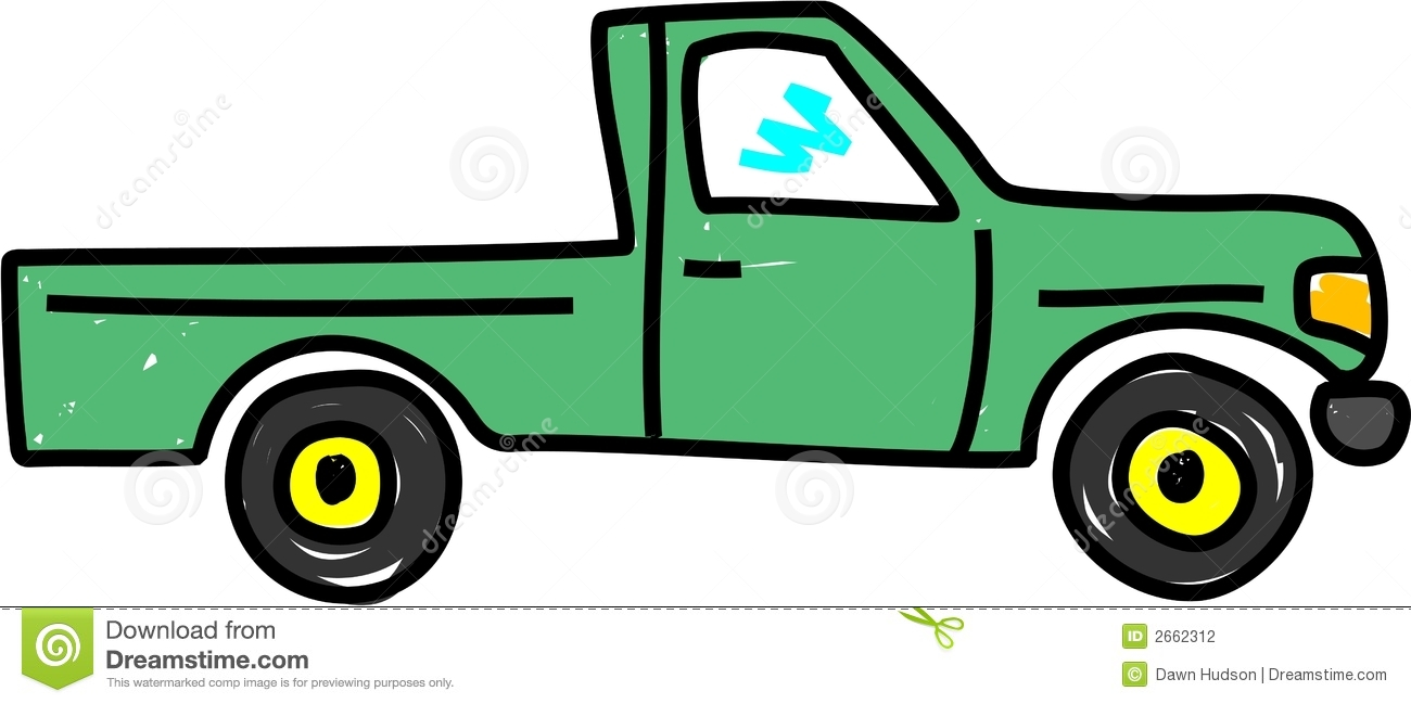Cartoon Images of Pickup Trucks Refrigeration Clipart