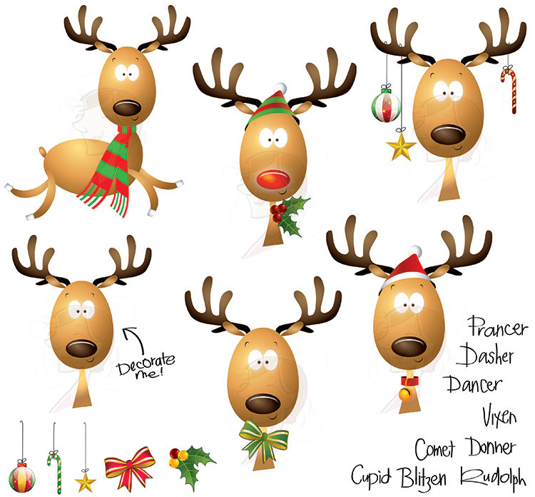 Christmas reindeer clipart - photo#8
