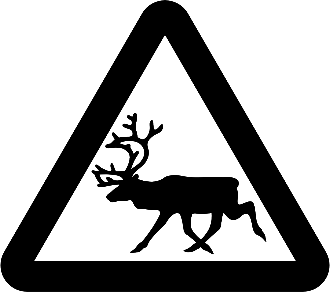Reindeer Clipart Black And White Clipart Panda Free