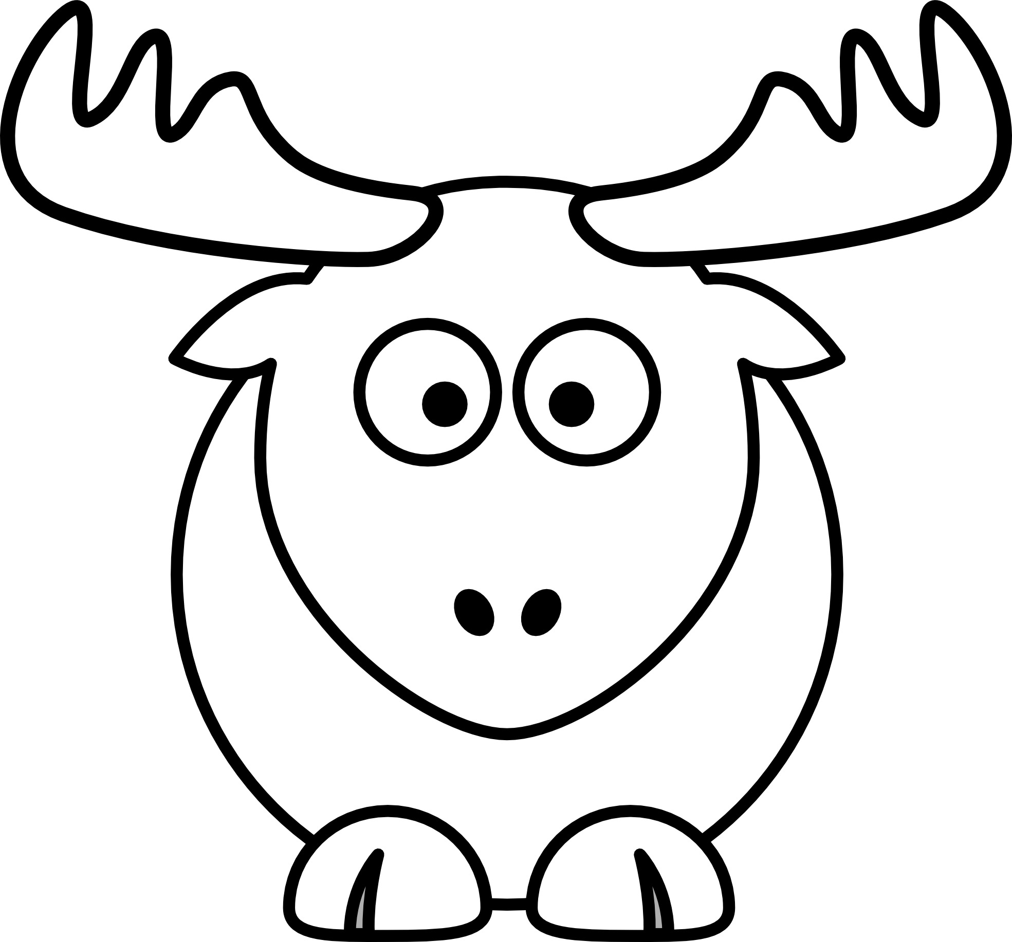 Clip Art Reindeer Clipart Black And White reindeer clipart black and white panda free images