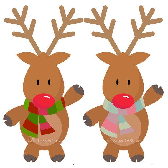 Cute Rudolph Reindeer Clipart