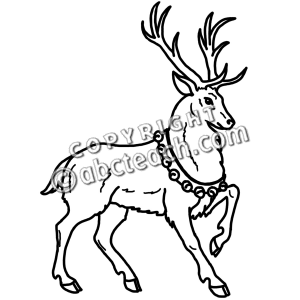 Clip Art Reindeer Clipart Black And White reindeer clip art black and white clipart panda free clipart