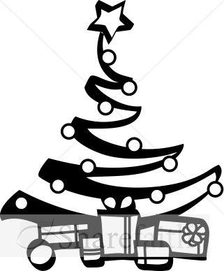 Religious Christmas Clipart Black And