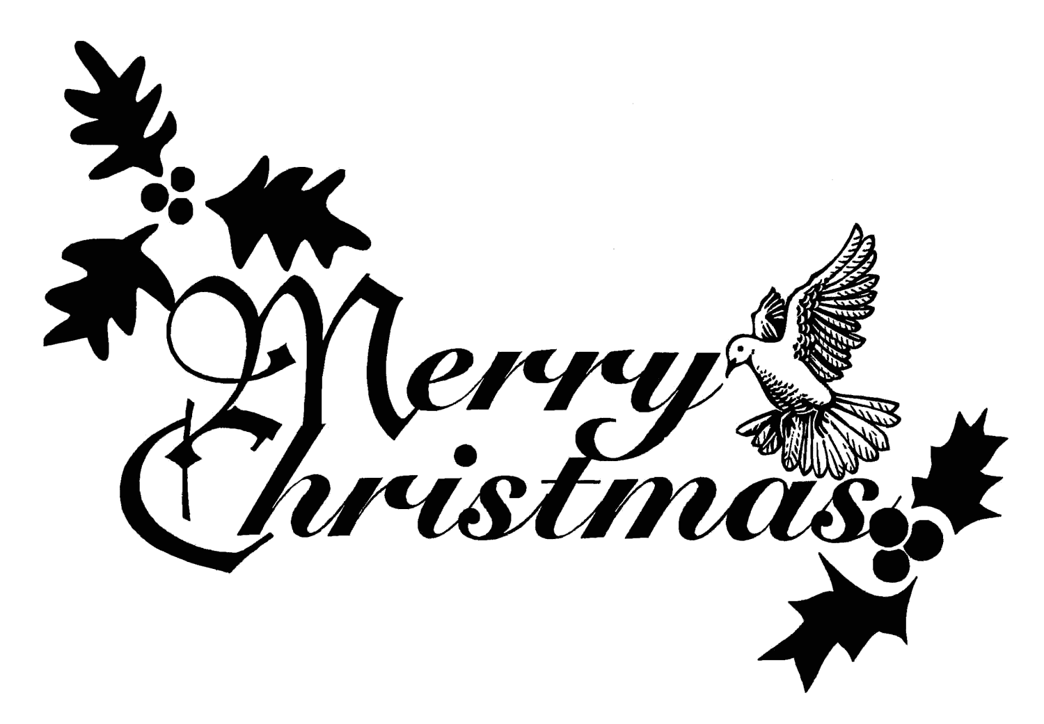 Christian Merry Christmas Clipart