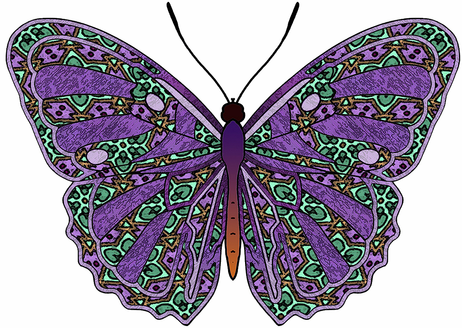 Purple Butterfly Border Clipart | Clipart Panda - Free Clipart Images