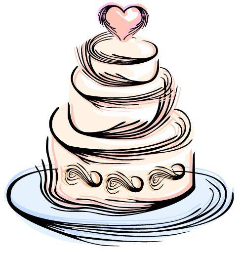 Blue Wedding Cake Clipart | Clipart Panda - Free Clipart Images