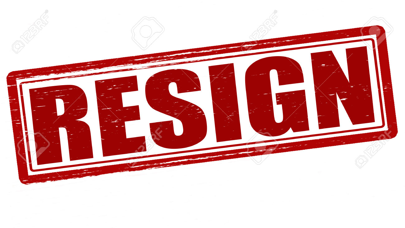 Resign Clipart Resignation Clipart