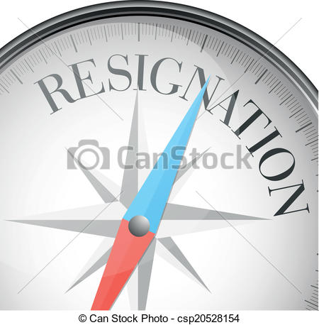 Vector Stock - Resignation. Clipart Illustration gg67260027 - GoGraph