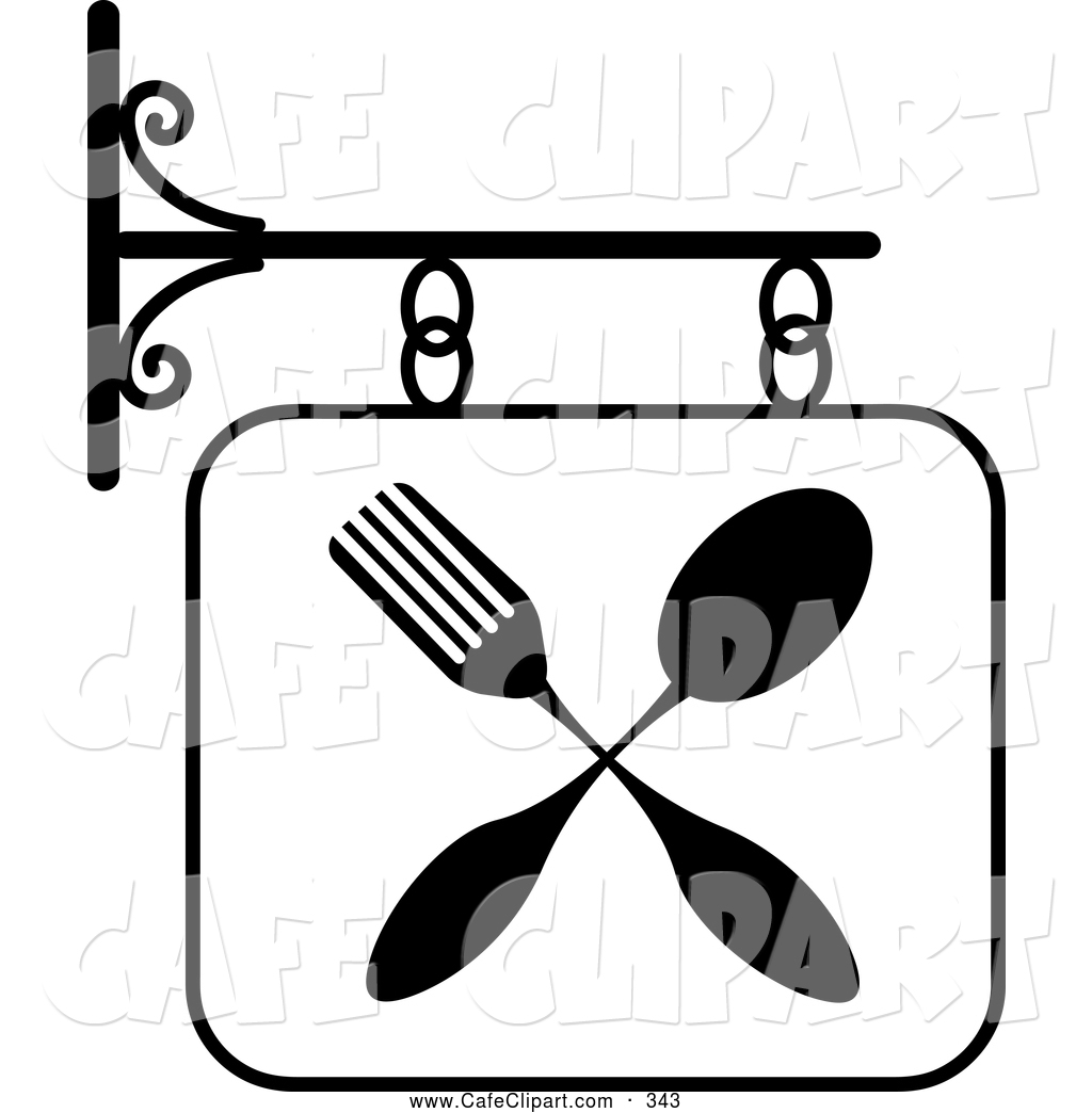 vector clip art of a black and clipart panda free clipart images rh clipartpanda com restaurant food clipart free restaurant clipart images